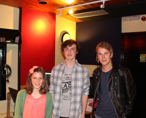 Rosie & Aidan with Tom Odell
